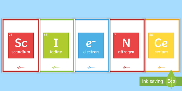 Science Periodic Table A4 Display Poster Science Periodic