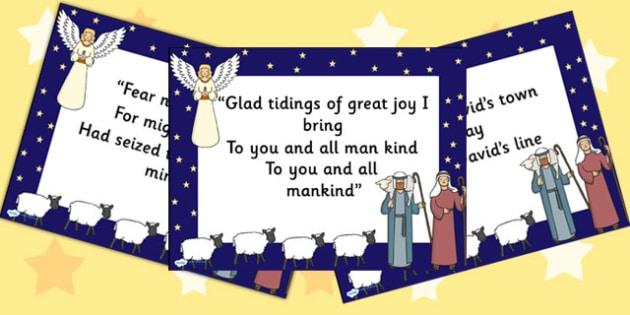 While Shepherds Watch Lyrics PowerPoint - christmas, powerpoint