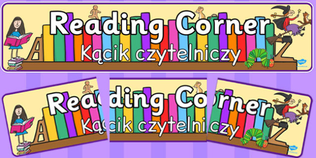 Reading Corner Display Banner Polish Translation - classroom organisation, library, book corner, books, early years, ks1, key stage 1, ks2