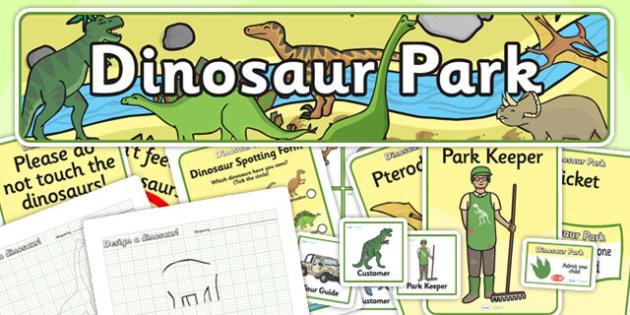 Dinosaur Park Role Play Pack - dinosaur, role play, role play pack, resource pack, role play badges, role play banner, role play display photos, pack