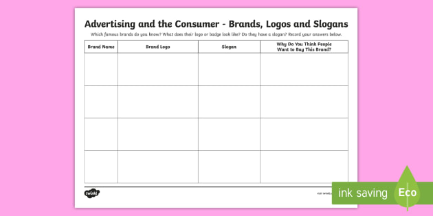 Advertising And The Consumer Brands Logos And Slogans