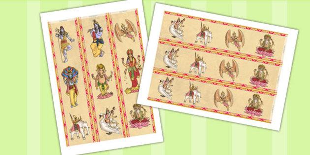 Hindu Gods Display Borders - hinduism, religion, RE, border