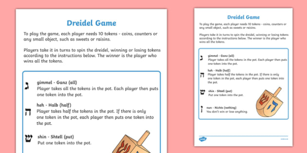 photo relating to Dreidel Game Rules Printable identify Dreidel Video game - Hanukkah Device