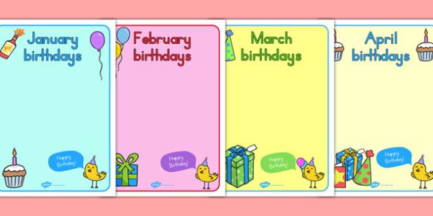 Editable Birthday Display Posters - birthday, birthday posters
