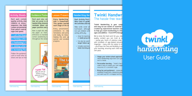 FREE! - Twinkl Handwriting User Guide - handwriting, penpals