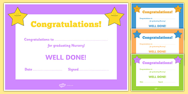 Editable End of Year Graduation Award Certificates - End of