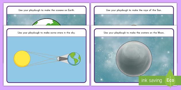 Solar Eclipse Playdough Mats - Solar Eclipse, Eclipse, Space Playdough Mats, Space, Playdough Mats