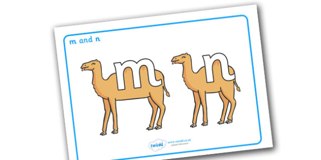 M and N Display Posters - literacy, confusing letters, m and n, M, N, letters, alphabet, activity, handwriting, distinction, difference, display, posters, sign