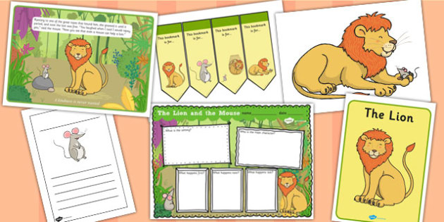 The Lion and the Mouse Story Primary Resources - Story, Moral