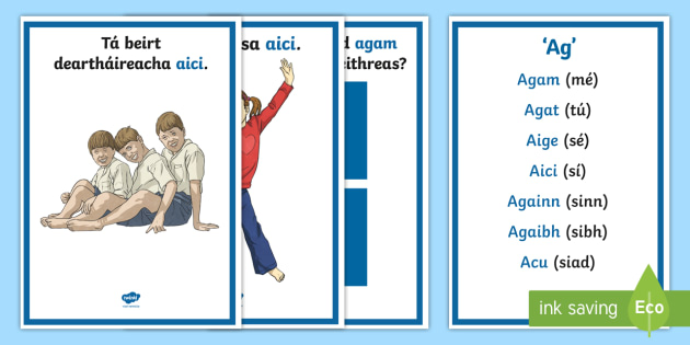 Ramhfhocal Ag A4 Display Poster Gaeilge