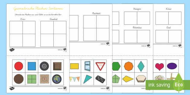 geometrie fl chen sortieren arbeitsblatt fl chen ebene figuren 2d. Black Bedroom Furniture Sets. Home Design Ideas