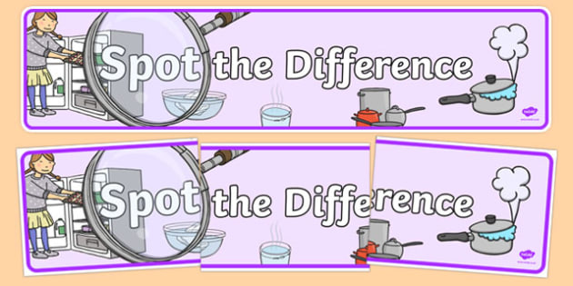 Spot the Difference Display Banner - australia, Australian Curriculum, Spot the Difference, science, year 1, banner, wall display