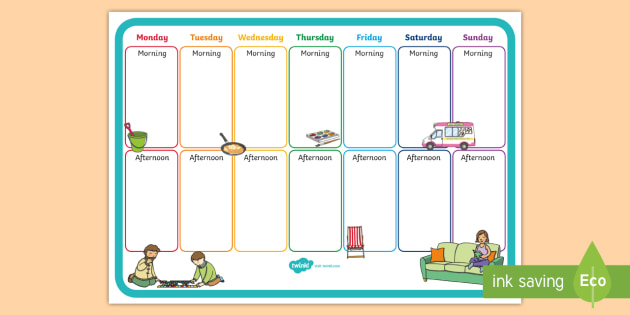 Activity Schedule Template from images.twinkl.co.uk