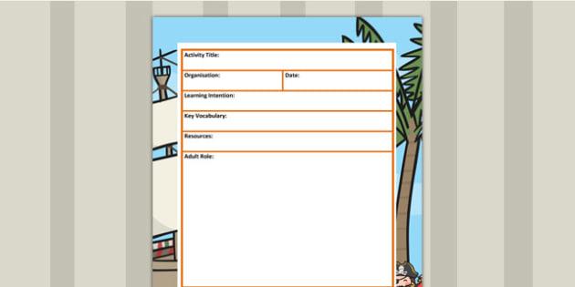 Pirate Themed Editable EYFS Adult Led Carpet Based Activity Plan