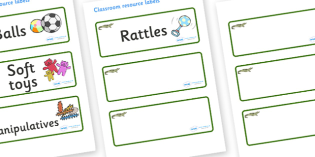 Crocodile Themed Editable Additional Resource Labels - Themed Label template, Resource Label, Name Labels, Editable Labels, Drawer Labels, KS1 Labels, Foundation Labels, Foundation Stage Labels, Teaching Labels, Resource Labels, Tray Labels, Printabl