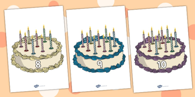 Numbers 0 10 On Birthday Cakes Foundation Numeracy Number Recognition