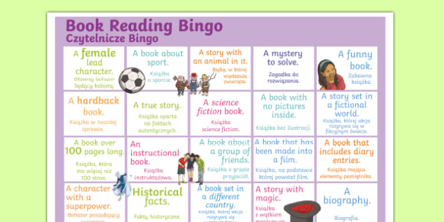 Book Reading Bingo A3 Display Poster Polish Translation-Polish-translation