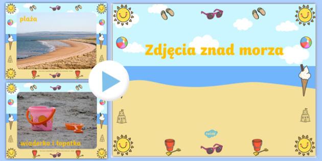 Prezentacja PowerPoint Zdjęcia znad morza po polsku