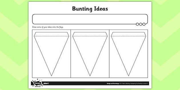 Worksheet / Activity Sheet Bunting Ideas - worksheet / activity sheet, bunting, ideas, worksheet