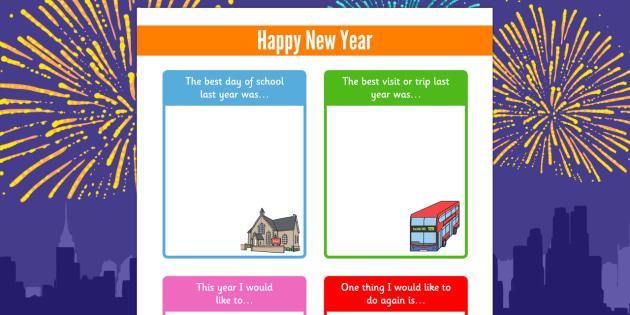 Happy New Year SEN Activity Sheet - happy new year, sen, activity, sheet, worksheet