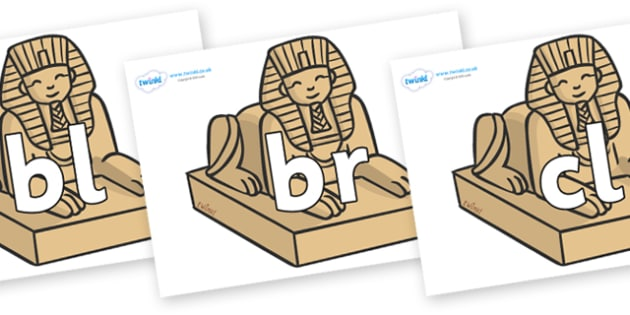 Initial Letter Blends on Sphinx - Initial Letters, initial letter, letter blend, letter blends, consonant, consonants, digraph, trigraph, literacy, alphabet, letters, foundation stage literacy
