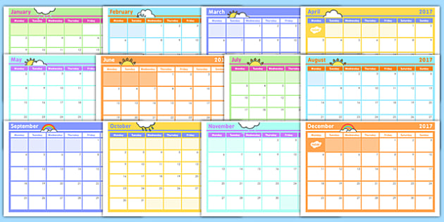 Monthly Calendar Planning Template   Monthly Calendar