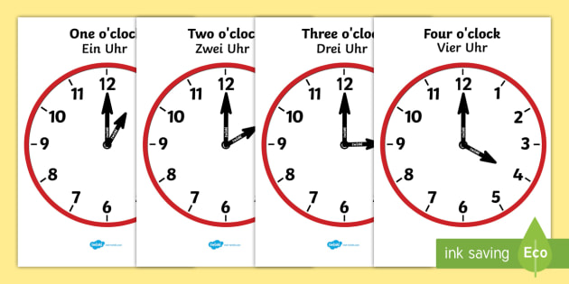 Analogue Clocks Hourly O'Clock Worksheet / Worksheet English