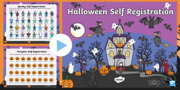 Halloween Self Reg PowerPoint - halloween, self-reg, powerpoint