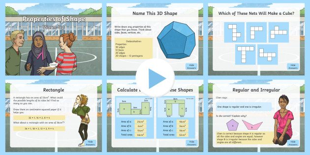year 5 properties of shapes maths warmup powerpoint ks2