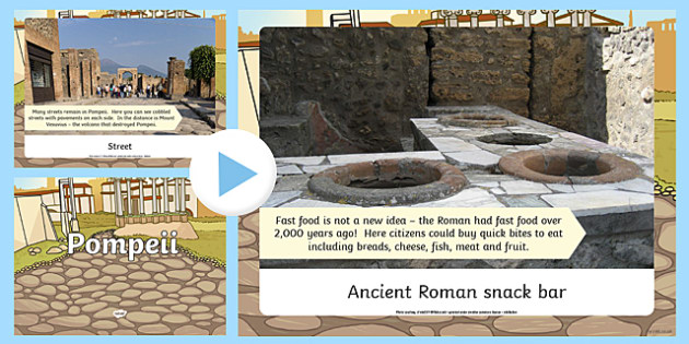 Pompeii Photo Information PowerPoint - pompeii, photo, information, powerpoint, ks2, romans