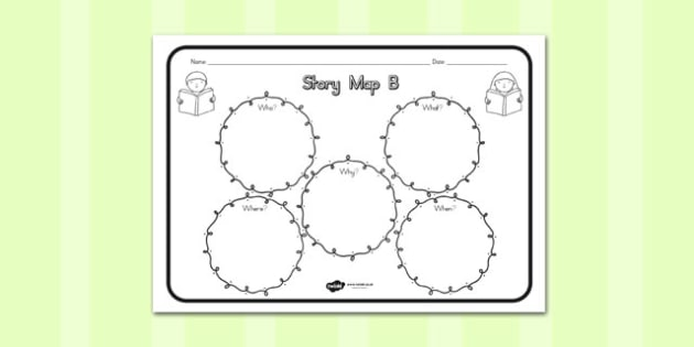Story Map B Worksheet - australia, story, map, b, worksheet