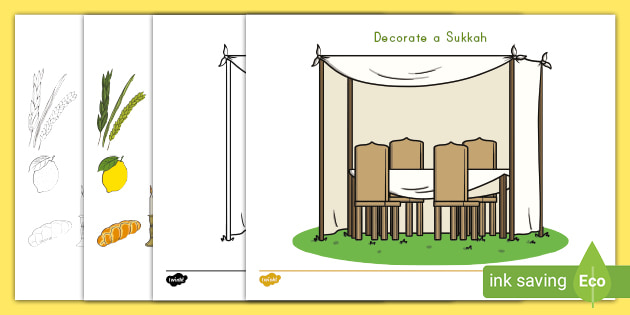 18 Sukkah Decorations Coloring Pages - Printable Coloring ...