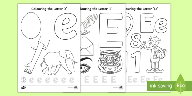 Cursive Letter E Coloring Pages Teacher Made