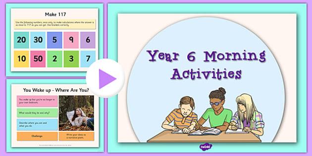 Year 6 Morning Activities Year 6 Morning Activities Morning