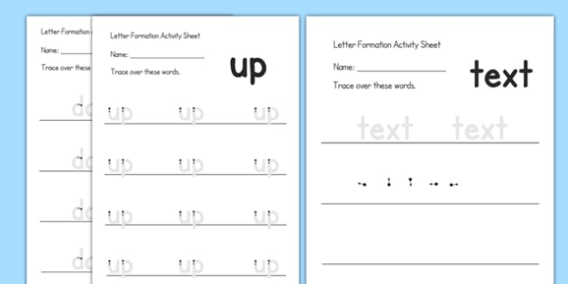 Editable Letter Formation Activity Sheet -  handwriting, letters, letter, formation, alphabet, writing, early writing, pencil, pen, literacy, worksheet