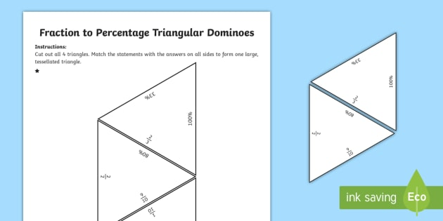 Fractions, Decimals and Percentage Tarsia Equivalence
