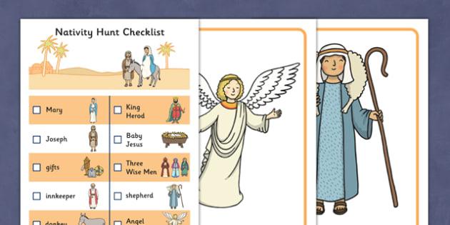 Nativity Hunt Activity Pack - packs, sack, sacks, bundle, bundles