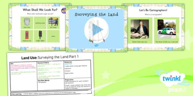 Geography: Land Use: Surveying the Land Year 3 Lesson Pack 1
