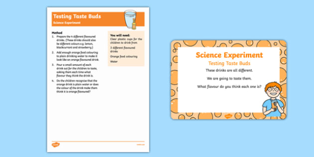 EYFS Testing Taste Buds Science Experiment and Prompt Card Pack