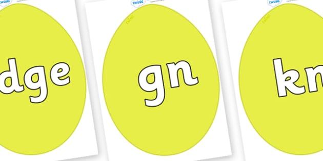 Silent Letters on Golden Eggs - Silent Letters, silent letter, letter blend, consonant, consonants, digraph, trigraph, A-Z letters, literacy, alphabet, letters, alternative sounds