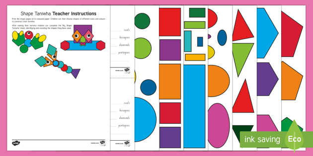 Shape Taniwha Activity Pack