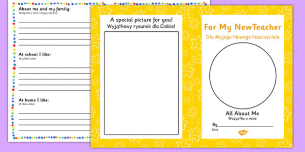 For My New Teacher Transition Booklet Polish Translation - polish