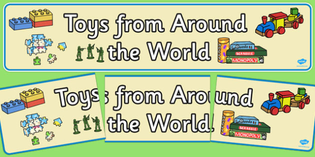 Toys From Around the World Display Banner - display banner, toys
