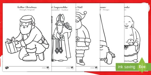Der Weihnachtsmann Weltweit Ausmalbilder German