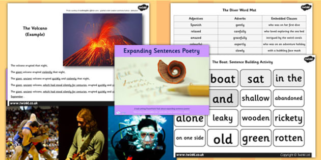 Expanding Sentences Poetry Lesson Teaching Pack - literacy, poem