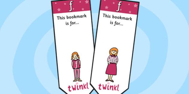 f Sound Family Editable Bookmarks - f sound family, editable bookmarks, bookmarks, editable, behaviour management, classroom management, rewards, awards