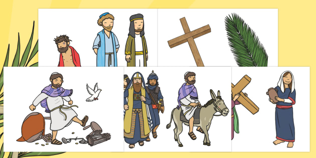 Easter Story Cut Outs - easter, RE, religion, story cut outs