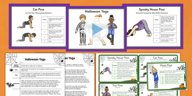 Halloween Yoga Story PowerPoint Pack - yoga story, yoga, story, powerpoint, pack, halloween