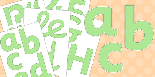 Neutral Pastel Green Display Letters and Numbers Pack - neutral display