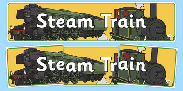 Steam Train Display Banner - steam train, steam, train, display banner, display, banner